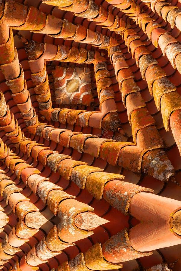 Le labyrinthe aiment l'image des tuiles de toit photos stock