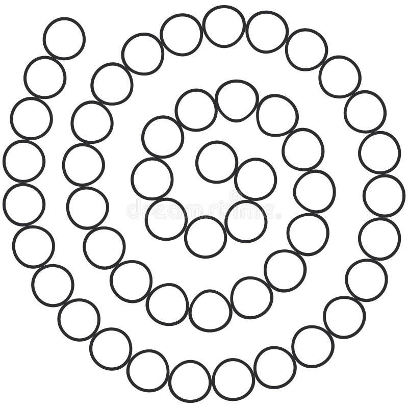 Le labyrinthe en spirale futuriste abstrait, calibre de modèle pour des jeux du ` s d'enfants, blanc entoure la découpe noire d'i illustration libre de droits