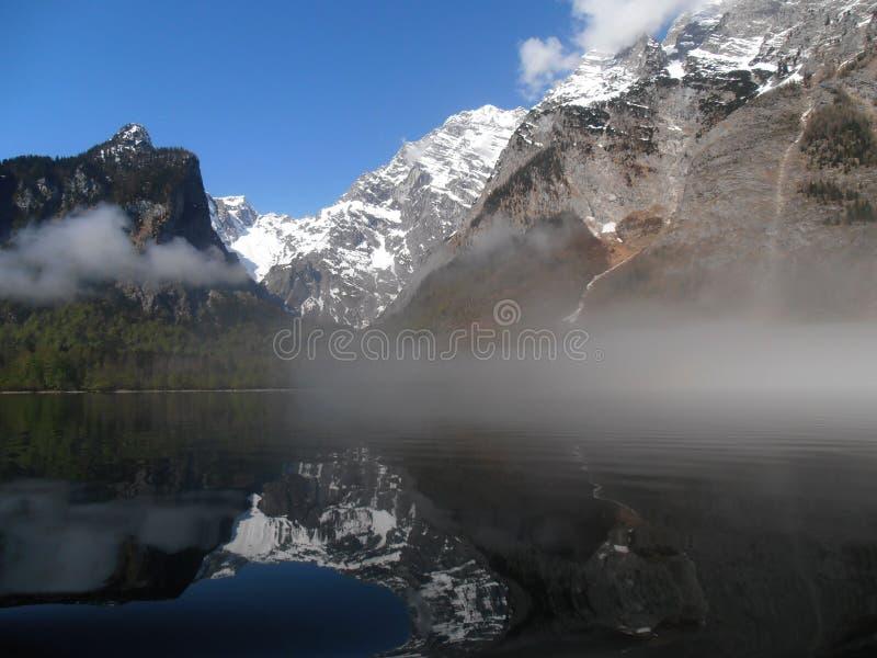 Le lac étonnant Konigsee en Bavière photographie stock libre de droits