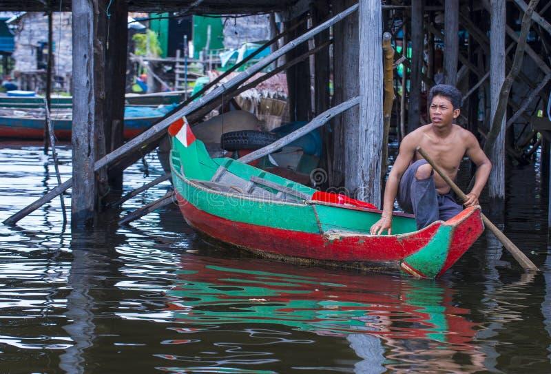 Le lac Cambodge de sève de Tonle photos libres de droits