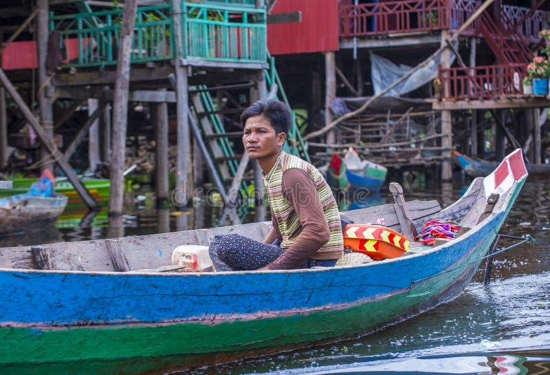 Le lac Cambodge de sève de Tonle photo libre de droits