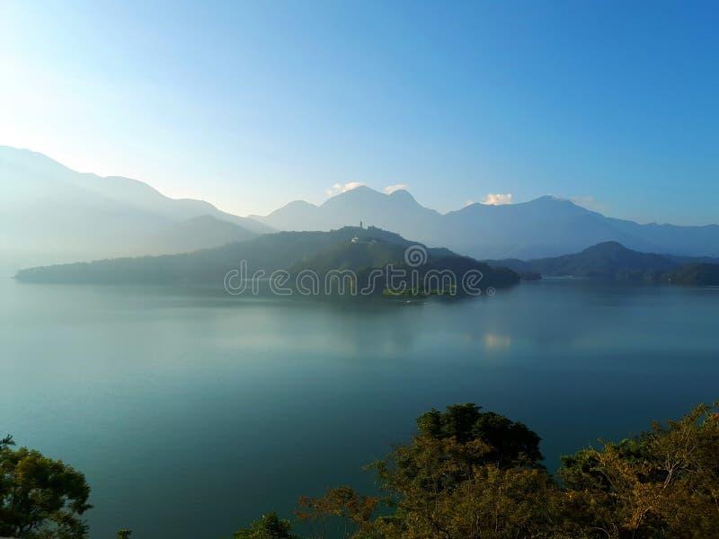 Le lac en île Taïwan de Formose photographie stock libre de droits