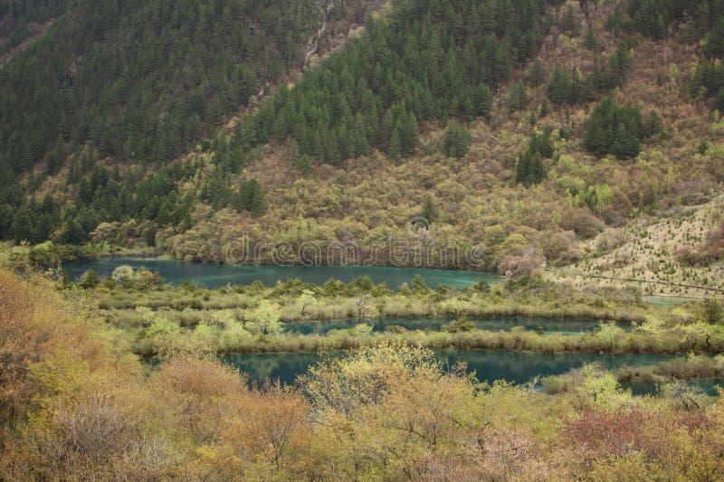 Le lac en montagne photographie stock libre de droits