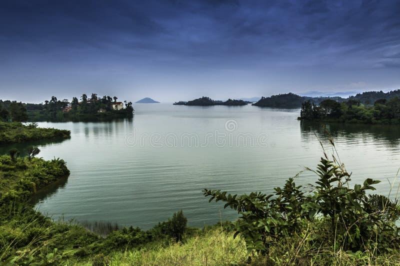 Le Lac Kivu image libre de droits
