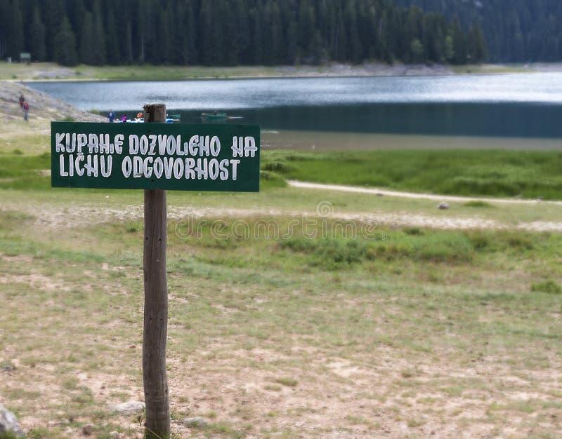 Le lac noir, jezero de Crno, en parc national de Durmitor, Monténégro images libres de droits
