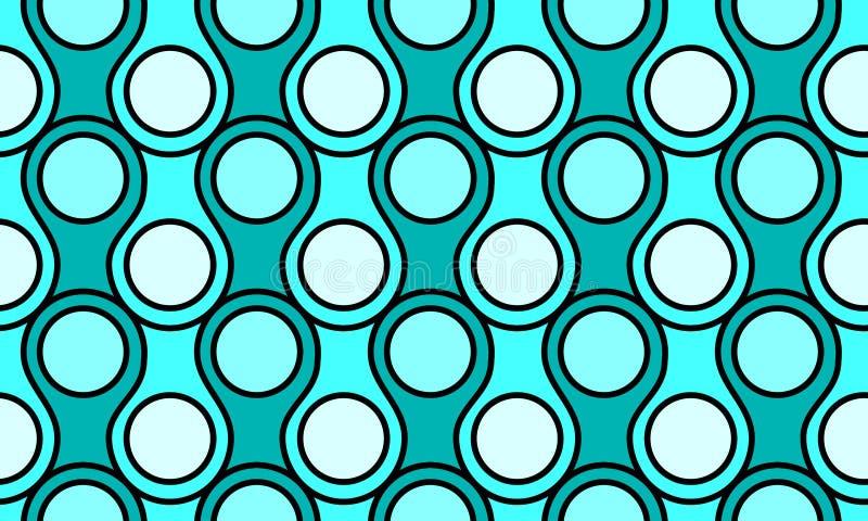 Le lac sans couture ondule le modèle géométrique illustration libre de droits