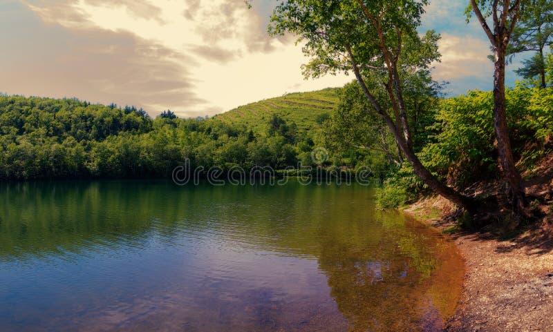 Le lac Supérieur chekhov sakhaline photo libre de droits