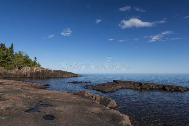 Le lac Supérieur scénique photo stock