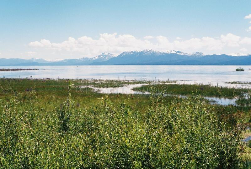 Lake Tahoe With Mountains In Background Photos Stock