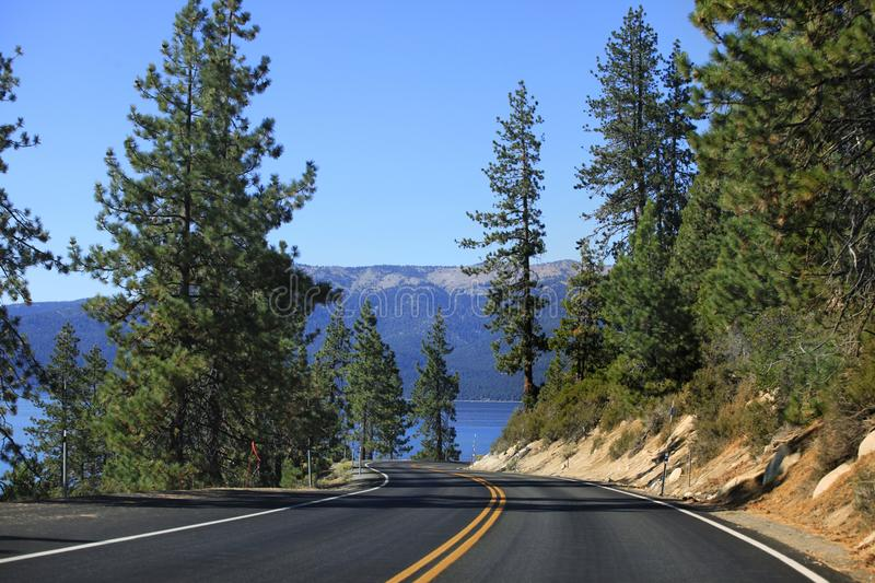 Le lac Tahoe Emerald Bay Road image stock