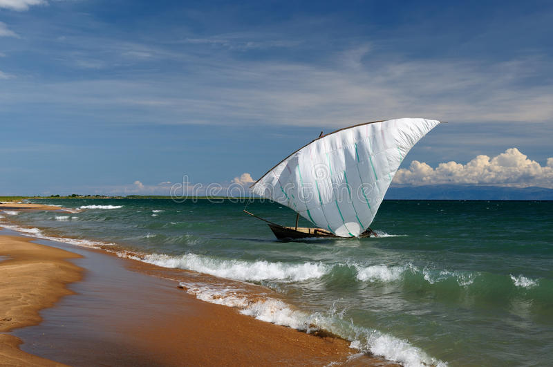 Le Lac Tanganyika, Tanzanie photographie stock libre de droits