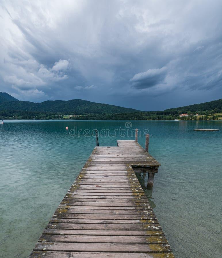 Le lac Tegernsee de montagne en Bavière, Allemagne images libres de droits