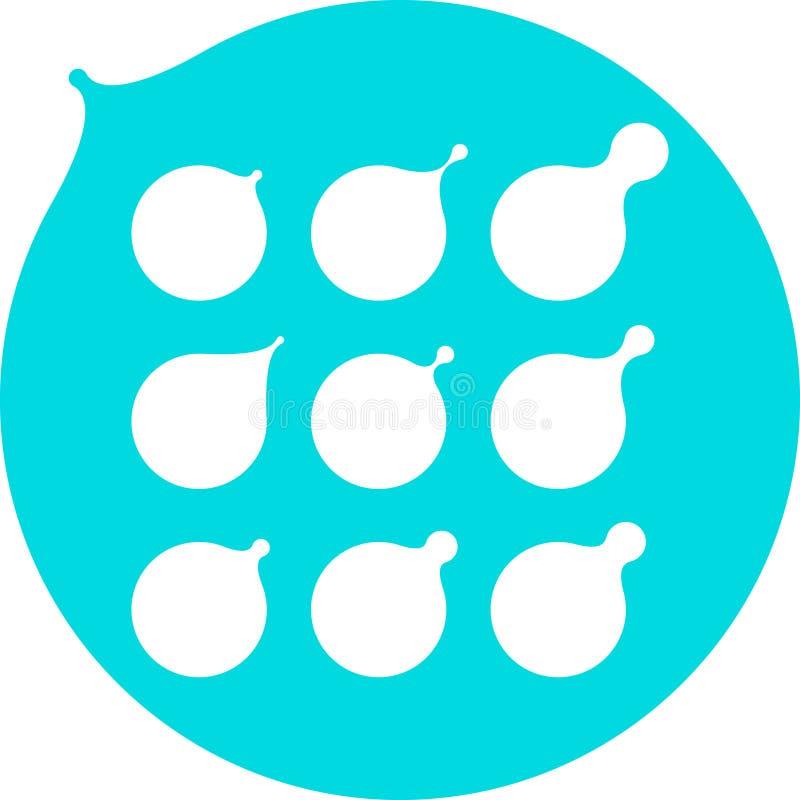 Le lait abstrait, l'eau relâche, templat de logo de vecteur de pétrole illustration libre de droits