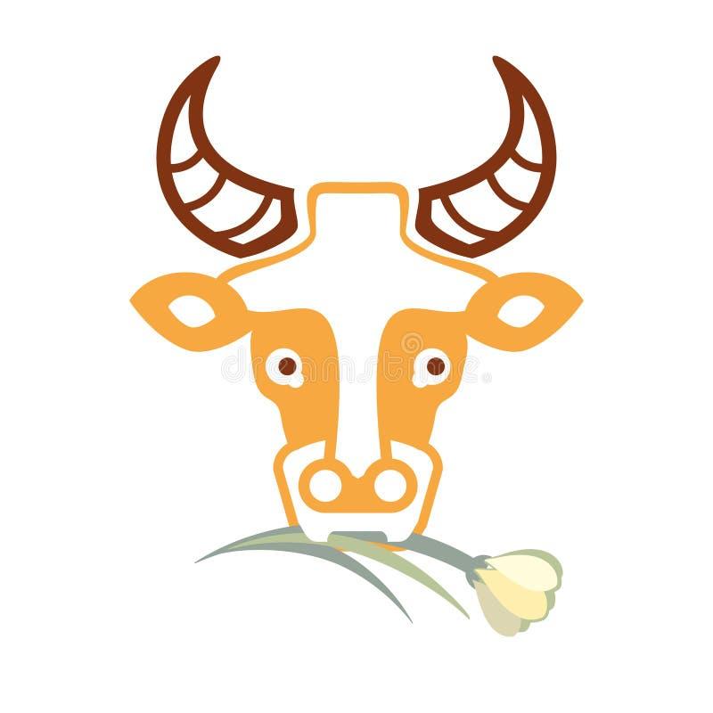 Le lait donne la vache illustration libre de droits