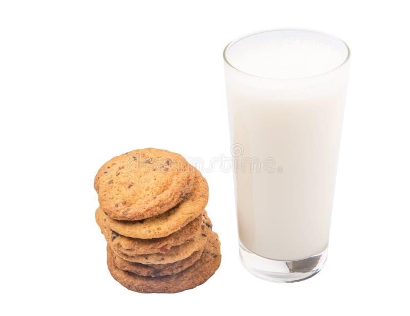 Le lait et la maison ont fait à des biscuits I image libre de droits