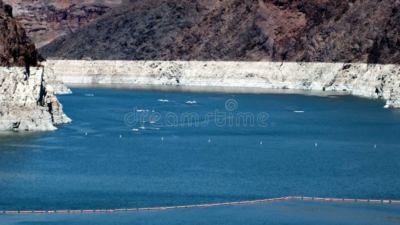 Le Lake Mead au-dessus du barrage de Hoover image libre de droits