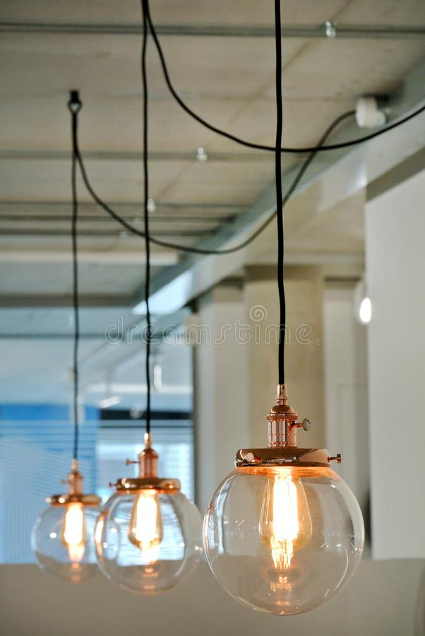 Le lampade del soffitto immagine stock libera da diritti