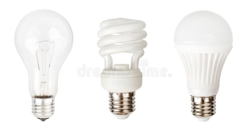 Le lampade hanno messo 1 immagini stock