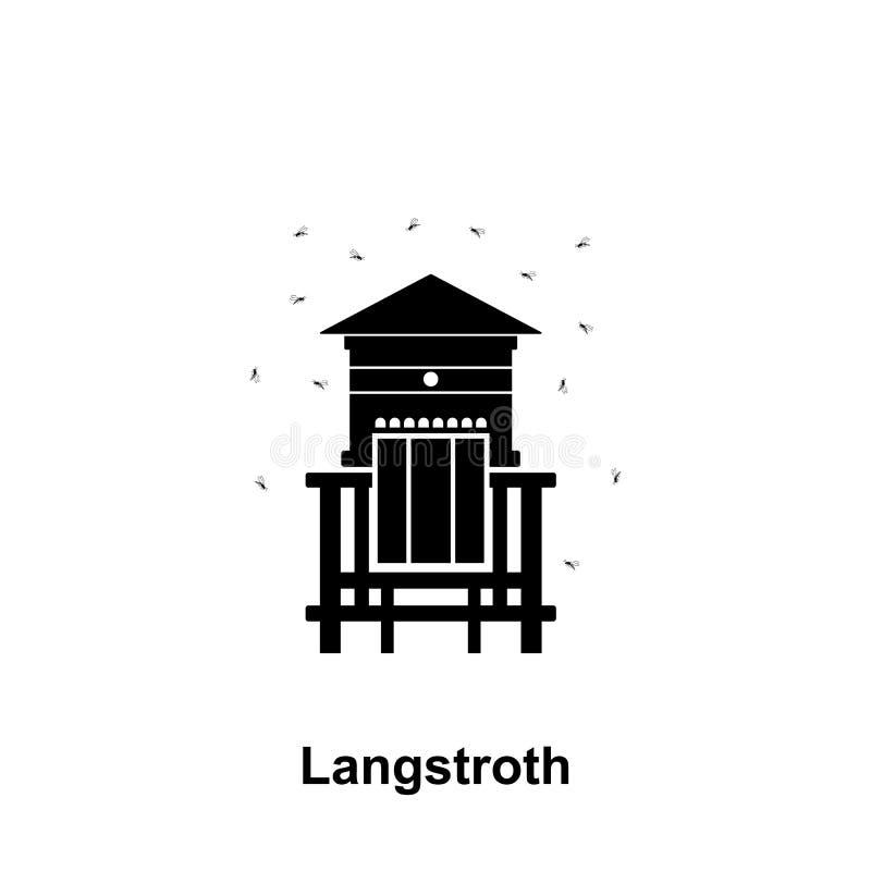 le langstroth amassent l'icône Élément d'icône de l'apiculture Icône de la meilleure qualité de conception graphique de qualité S illustration stock
