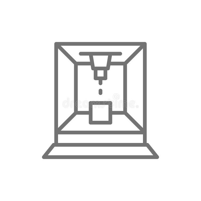 Le laser a coupé la ligne icône de machine illustration libre de droits
