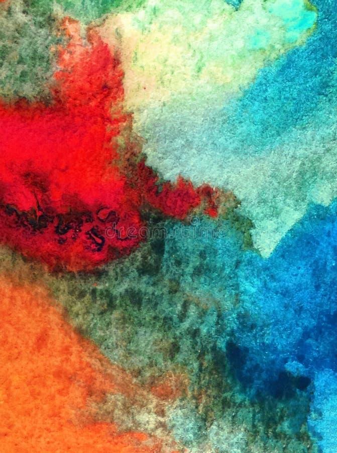 Le lavage humide texturisé frais créatif du monde sous-marin de mer de fond d'art d'aquarelle a brouillé l'imagination de chaos d photos libres de droits