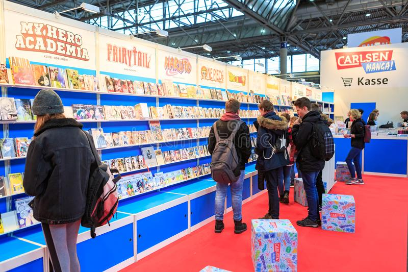 Le Leipziger Buchmesse photographie stock