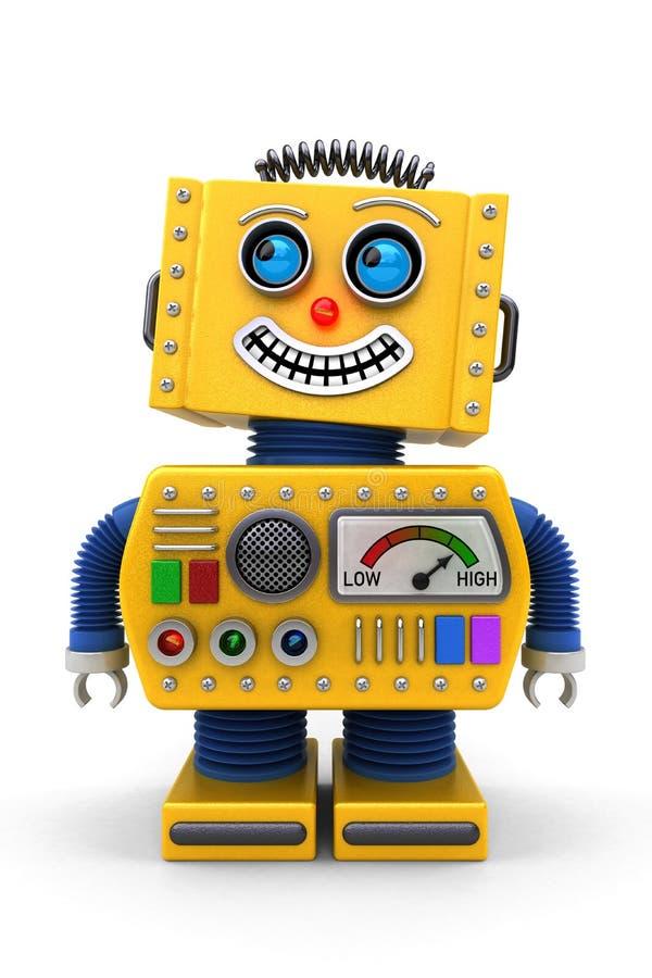 Le leksakroboten royaltyfri illustrationer