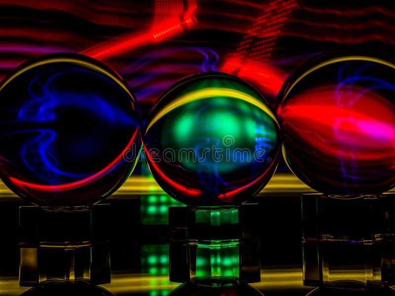 Le Lensballs semblent être un conduit pour l'énergie de la lumière images stock