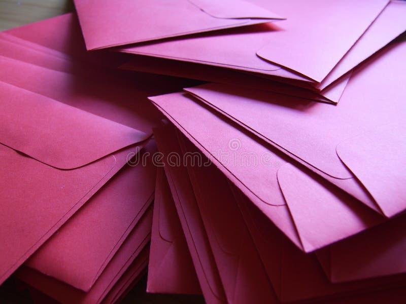 Le lettere di colore rosso fotografia stock libera da diritti