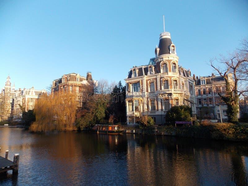 Le lever de soleil à Amsterdam photographie stock