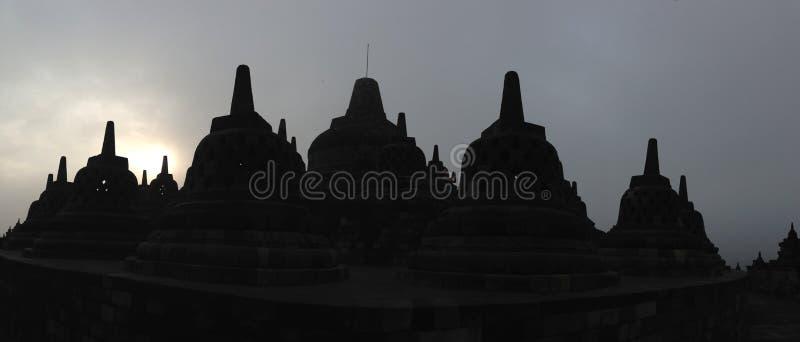 Le lever de soleil de temple de Borobudur photo stock