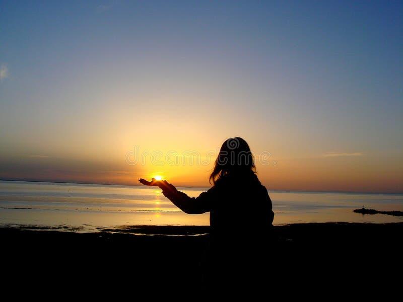le lever de soleil du Lac Qinghai image libre de droits