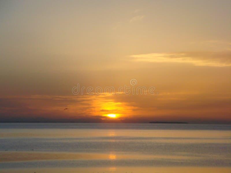 le lever de soleil du Lac Qinghai images libres de droits
