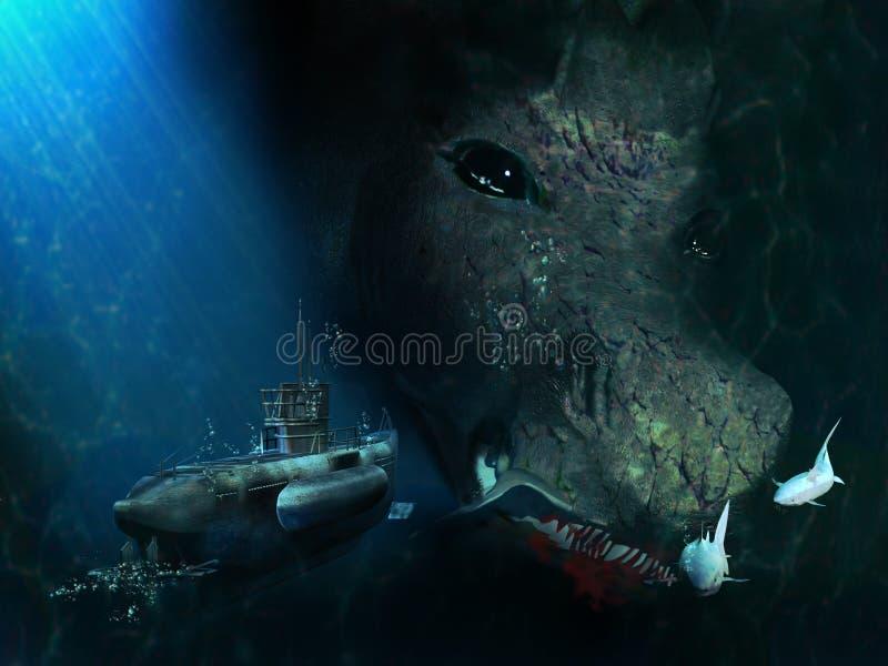 Le Leviathan illustration stock