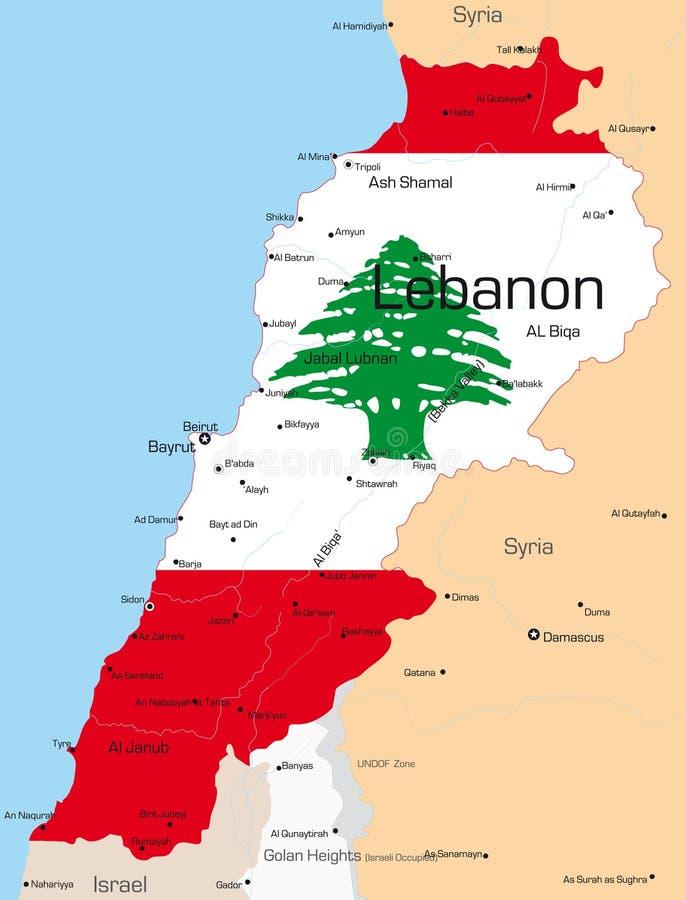 Le Liban illustration libre de droits