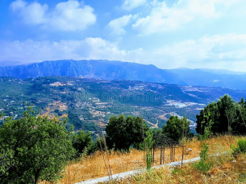 Le Liban Mountain View images stock