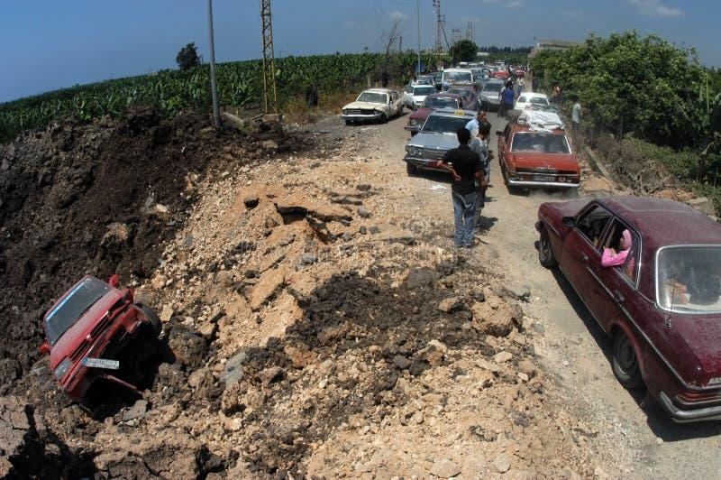 Le Liban sous le bombardement photographie stock