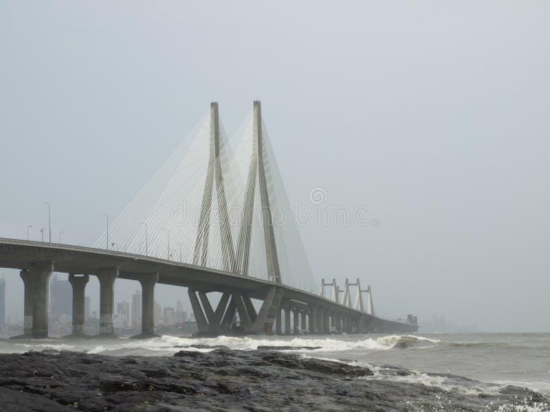 Le lien de mer de Bandra-Worli, officiellement appelé Rajiv Gandhi photographie stock