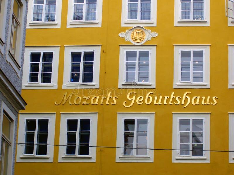 Le lieu de naissance de Mozart images stock