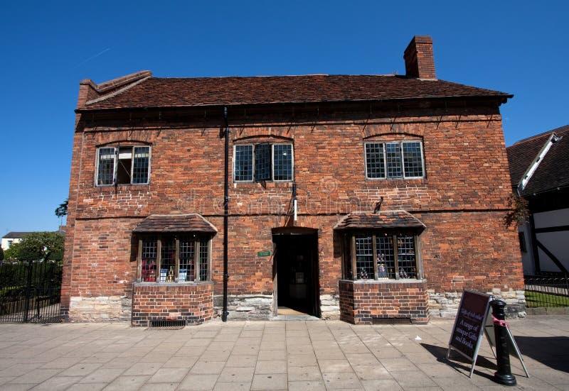 Le lieu de naissance Stratford de Shakespeare sur Avon image stock