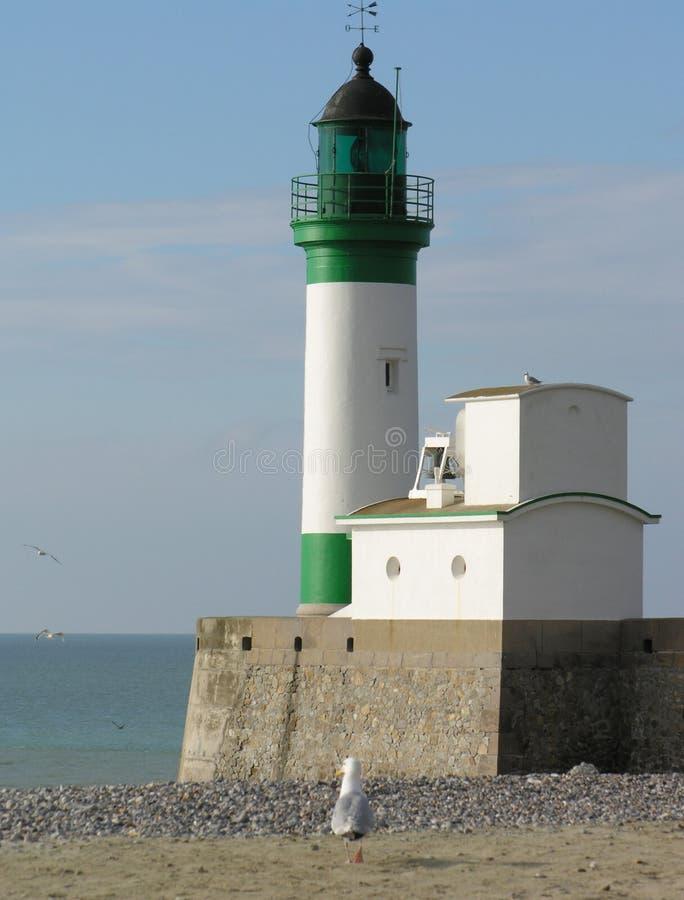le lighthouse treport 库存图片