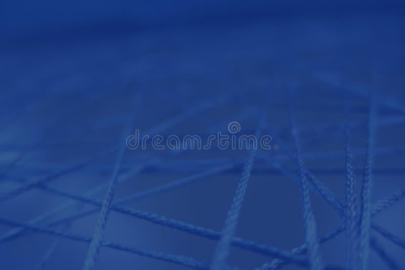 Le linee di collegamento trasversali delle corde di web di interazione di dati tutto è collegata immagini stock