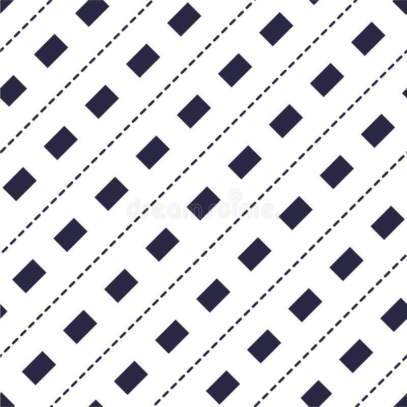 Le linee tratteggiate minime vector il modello senza cuciture, backgroun astratto illustrazione vettoriale