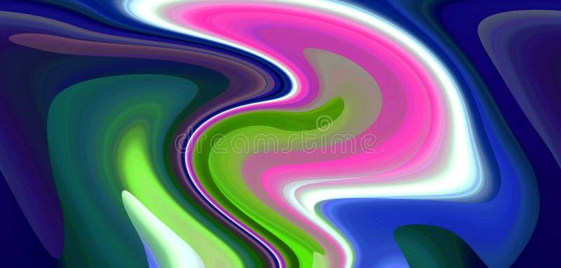 Le linee vive fluide fondo, miscela molle contrappone, grafici Priorità bassa e struttura astratte illustrazione di stock
