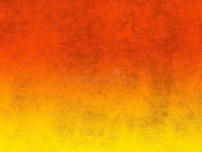 Le lino a imprimé la texture dans orange et jaune gradués photographie stock