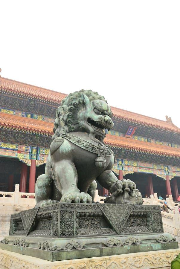Le lion de cuivre photos libres de droits