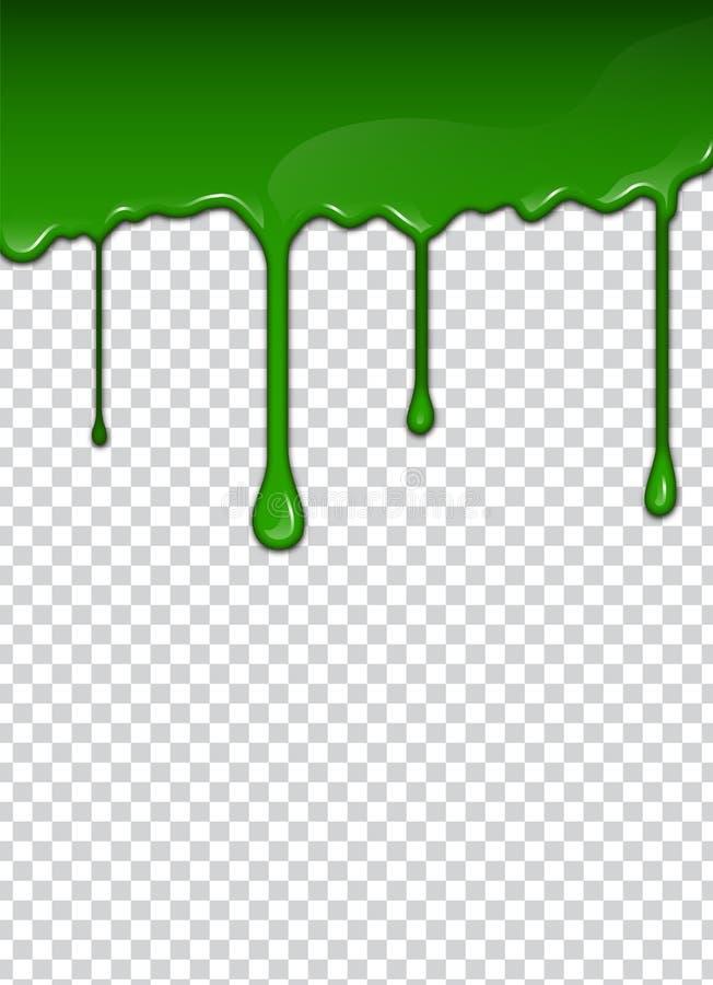 Le liquide vert, éclabousse et tache Illustration de vecteur de boue illustration stock