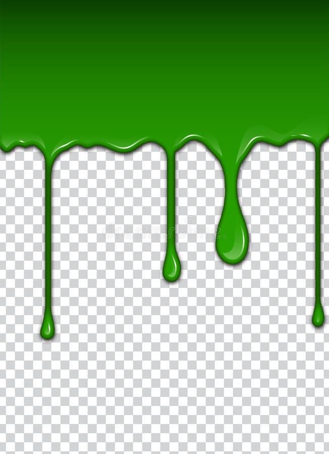 Le liquide vert, éclabousse et tache Illustration de vecteur de boue illustration libre de droits