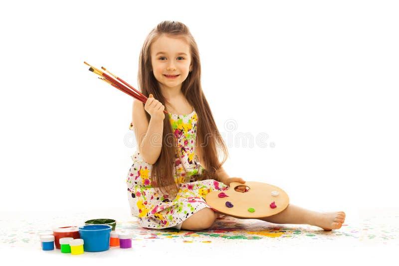 Le liten flickamålning fotografering för bildbyråer