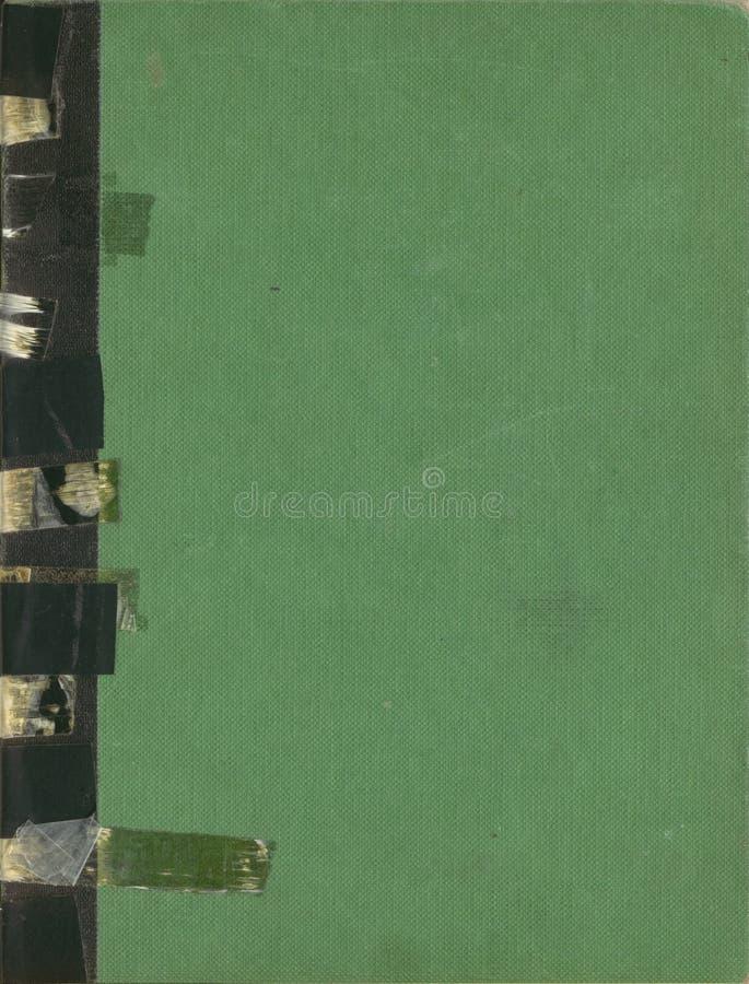 Le livre antique a enregistré le grippement sur bande photographie stock